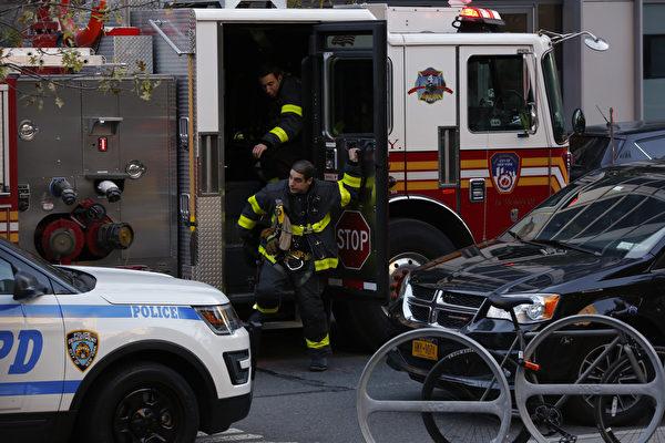 週二(10月31日),紐約曼哈頓發生卡車衝撞人群事件。當局表示,有八人在卡車撞人事件中死亡。紐約市長表示,這是一起恐怖(主義)事件。( Kena Betancur/Getty Images)