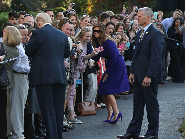 11月3日,美国总统川普(特朗普)夫妇展开对亚洲的访问。(Mark Wilson/Getty Images)
