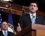 众议员议长瑞安(右)似乎有信心在感恩节前通过税改议案。(SAUL LOEB/AFP/Getty Images)