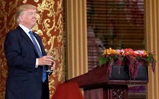 随着美国总统川普(特朗普)访问中国的行程展开,川普也成为中国社交媒体上的明星。(JIM WATSON/AFP/Getty Images)