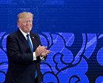 11月10日在越南举行的亚太经合会领袖会议(APEC)上,美国总统川普(特朗普)依次列举了印太地区各国的特点,还特别在民主层面上赞扬了印尼、韩国、日本和印度四国。(JIM WATSON/AFP/Getty Images)
