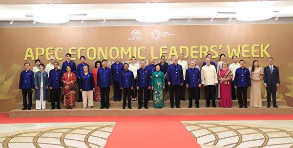 亚太经合会领袖峰会在越南岘港登场。( STR/AFP/Getty Images)