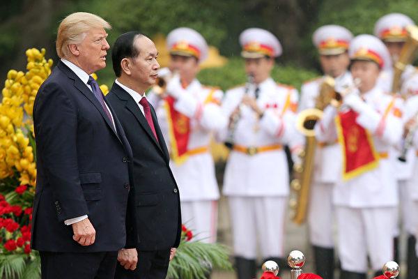 陈大光称,川普的来访是美越关系的一个里程碑。(LUONG THAI LINH/AFP/Getty Images)