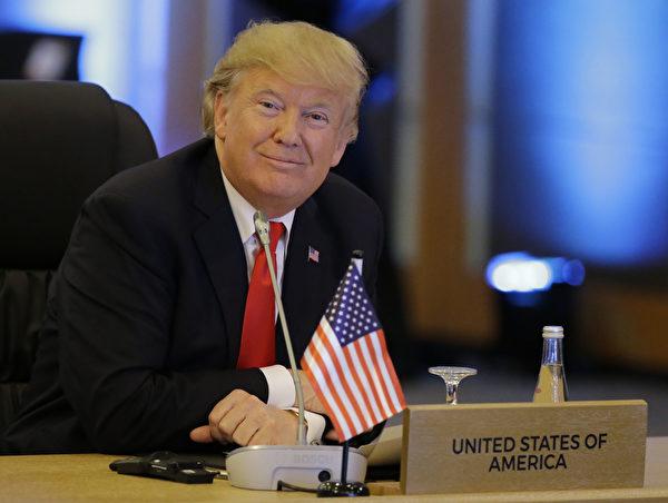 川普出席美國東盟峰會。(AARON FAVILA/AFP/Getty Images)