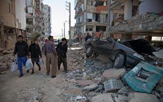 7.3級強震在伊朗造成嚴重人員傷亡。(FARZAD MENATI/AFP/Getty Images)