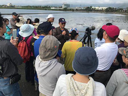 冬季得子溪口走读活动,吸引民众参与。(第一河川局提供)