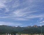 远看中国安徽九华山。(公有领域)