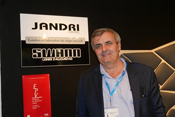 巴黎一高级皮革沙发公司总裁Jean-Paul Mahé。(孟谦/大纪元)