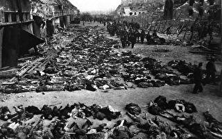 1945年4月12日被盟军解放的米特堡-朵拉集中营,约有20,000名囚犯死于营中。(公有领域)