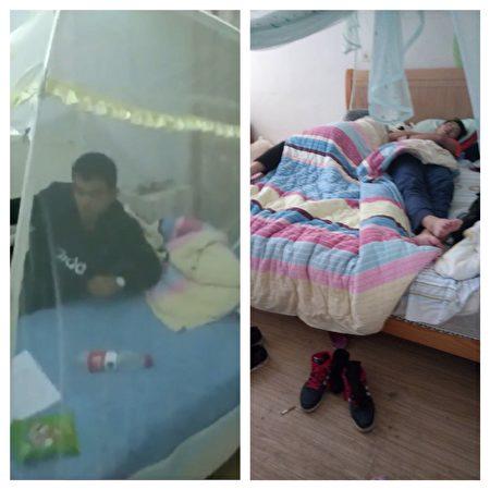 20個人在李琴家吃喝拉撒睡,如入無人之地。(大紀元合成/李琴提供)