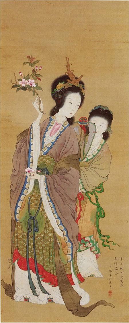杨贵妃在宫廷里的场景画像。(公有领域)