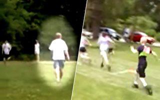 跑步比赛 小男孩跑得艰难 教练的一个动作让全场鼓掌