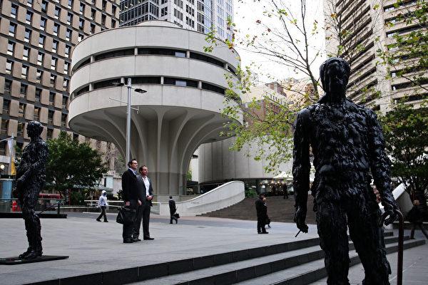 全球科技巨頭公司聚集悉尼市中心商業區,使得曾經是澳洲金融業中心的馬丁廣場(Martin Place)正在變成澳洲的「矽谷」。(Lisa Maree Williams/Getty Images)