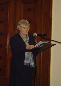 """立陶宛大学的欧娜. 沃弗瑞纳教授在波罗的海的""""九评""""研讨会上。(林达/大纪元)"""