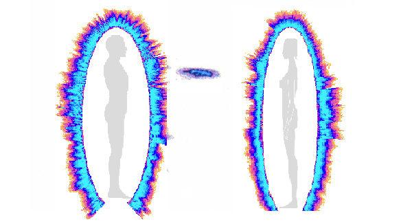 在GDV電子圖像下,示愛時能量的傳遞。(科羅特科夫提供)