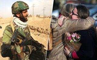 士兵兒子中槍命懸一刻,好心男子出手相救,沒想到這名男子竟然是傷兵媽媽22年前救下來的胎兒。(AHMAD AL-RUBAYE, DANIEL LEAL-OLIVAS/AFP/Getty Images/大紀元合成)