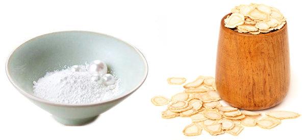 珍珠粉和人参(大纪元合成图)