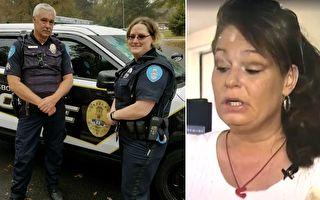 女子超市行窃被发现,警察登门调查时,被眼前的景象惊呆了。(视频截图、脸书/大纪元合成)