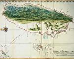 1630 年代荷兰人 Johannes Vingboons 绘制的台湾暨澎湖群岛地图。可看到魍港这个重要门户。(资料来源/《解码台湾史 1550-1720 》,翁佳音、黄验提供)