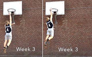 身高173公分的他 用6个月时间学会灌篮