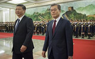 12月14日习近平在北京会晤文在寅,中韩之间的高层互动一举一动都被外界关注。(d NICOLAS ASFOURI/AFP/Getty Images)