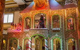 加州最大薑餅屋 展現聖誕節傳統
