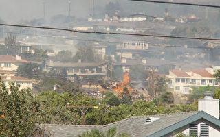 組圖:南加州爆發3處野火 數萬居民急逃離