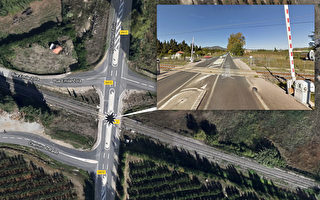 12月14日周四,法国时间下午4时左右,一辆大区列车(TER)与一辆东比利牛斯省(Pyrénées-Orientales)米拉镇(Millas)的校车相撞。目前已知事故造成4名儿童死亡,24人受重伤。图为事故发生的交叉口在谷歌地图上的位置。(大纪元制图)