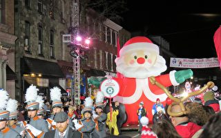费城西郊全美十佳圣诞游行 法轮功第十次受邀