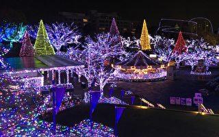 组图:东京读卖乐园彩灯 点亮冬季璀璨浪漫