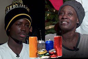 男孩撿易拉罐被警方干預 他說出的原因 讓硬漢都感動