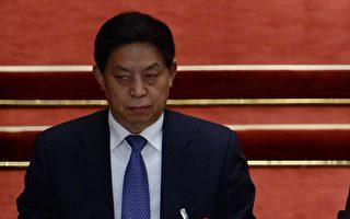 在中共十九大入常后,与其他常委相比,栗战书鲜少单独出席公开活动。(WANG ZHAO/AFP/Getty Images)
