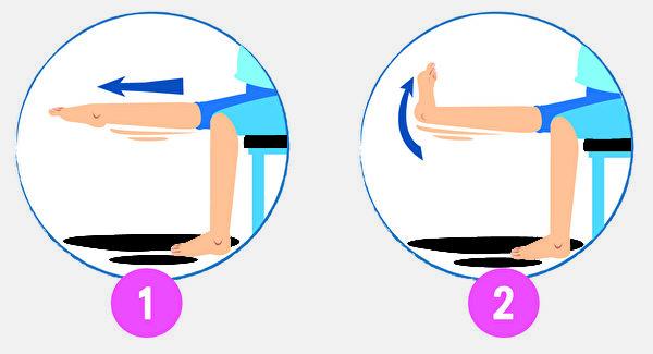 将两足背同时用力伸平后,再用力弯曲,多做可改善静脉曲张。(Shutterstock)