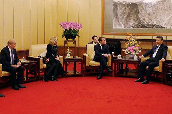 法國總統馬克龍週一(1月8日)開始展開為期三天的對華國事訪問,備受關注。(Andy Wong- Pool/Getty Images)
