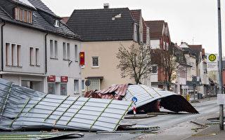 飓风级风暴袭击欧洲酿10死 陆空交通大乱