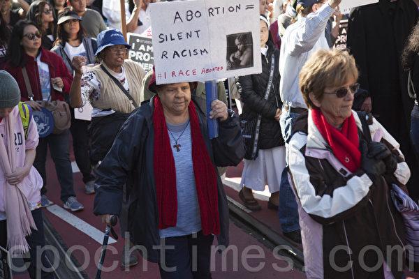 5萬民眾舊金山反墮胎大遊行
