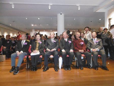 《传统新韵》当代名家美展开幕,政商名流出席参加。