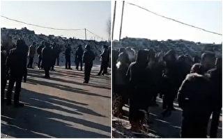 今早黑龍江雙鴨山市寶山區七星煤礦發生爆炸,已造成2人死亡。圖為事發現場。(視頻截圖/大紀元合成)