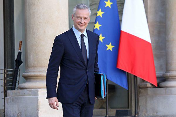 圖:法國經濟部長勒梅爾(Bruno Le Maire)1月9日在北京表示,法國拒絕「掠奪式」的中國投資,歡迎有長遠規劃的投資。圖為愛麗舍宮前的勒梅爾。(LUDOVIC MARIN/AFP/Getty Images)