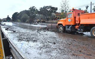 惊悚一幕 驾车时车被加州汹涌泥石流冲走