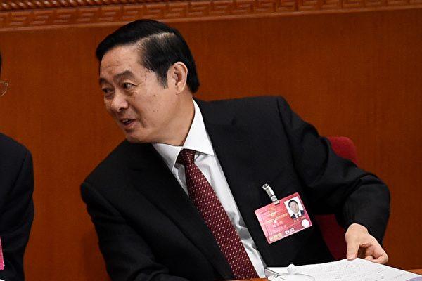 中共十九大上,中共十八屆政治局委員劉奇葆提前出局。(WANG ZHAO/AFP/Getty Images)