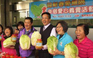 羅東鎮農會做愛心 義賣黃金泡菜 大白菜