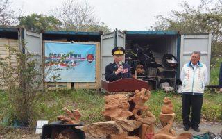 竹县警破获全台最大牛樟木收赃仓库