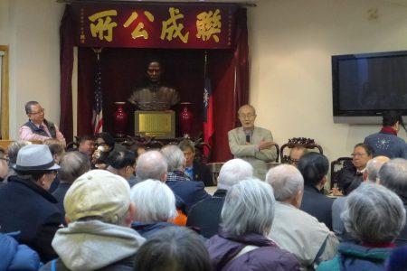針對黃達良提出的「正本清源」口號,中華公所主席蕭貴源在會上激動的發言。
