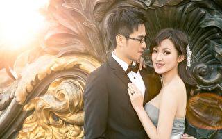 台主播何庭欢赴法拍婚纱 当四月新娘