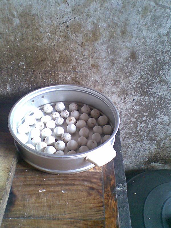 蔣煉嬌家過元宵節時家裡包的湯圓。(蔣煉嬌提供,攝於2011年)