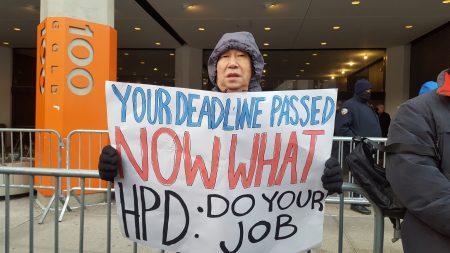 包厘街住户陈先生表示,若HPD7日前不表示接管维修,他要在8日参加抗议。