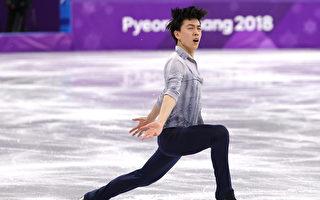美华裔少年完成滑冰高难动作 缔造奥运历史