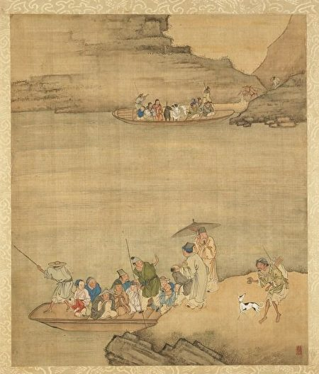 清 莊瑗《寒江待渡》,台北國立故宮博物院藏。(公有領域)
