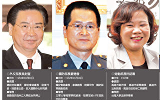 台内阁改组 5首长异动
